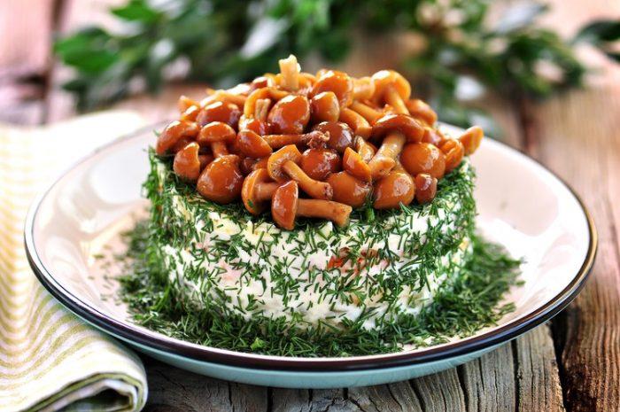 Салат лесная полянка классический рецепт